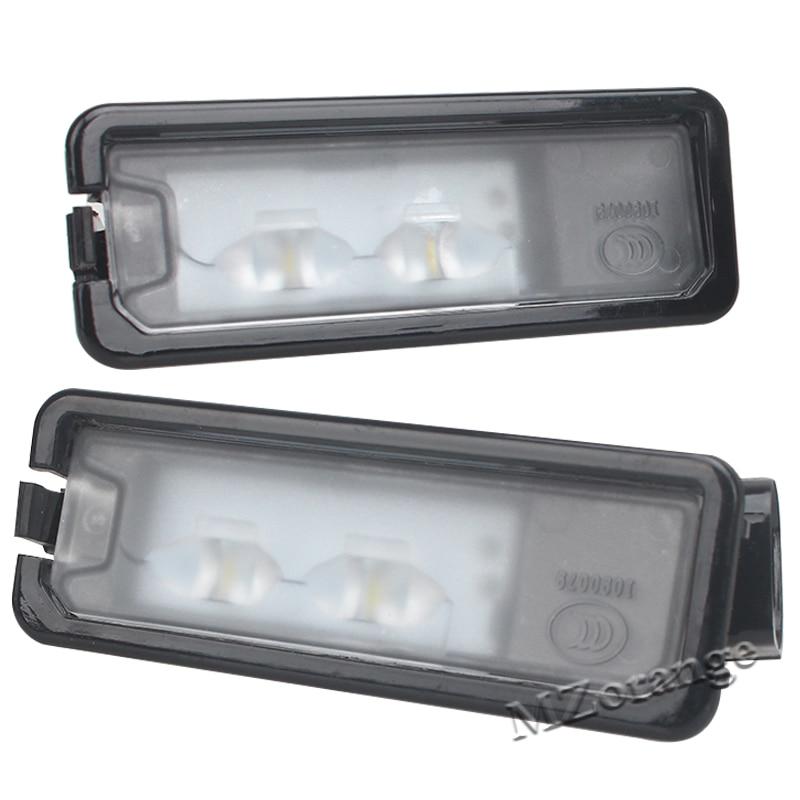 2Pcs For VW Passat B7 CC Golf 7 LED License Plate Light Number Plate Lamp 35D 943 021 A 35D 943 021A 2 pcs license plate light lamps fit jetta 5 passat 01 05 sedan transporter t5 touran 3b5 943 021 e
