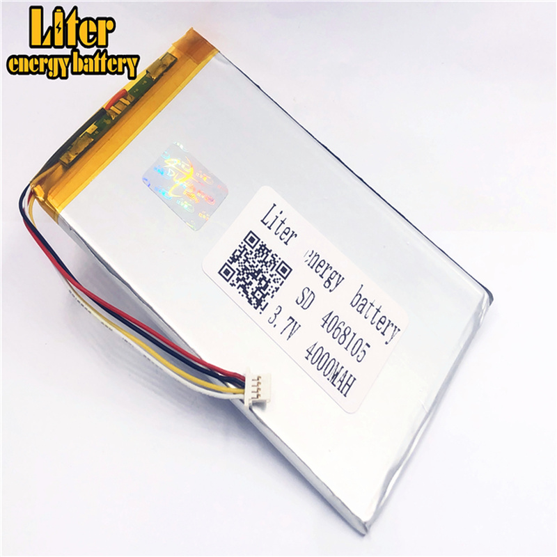 plug 1.0-4P 4068105 4070105 Wholesale price <font><b>3.7v</b></font> <font><b>4000mah</b></font> lipo <font><b>battery</b></font> in rechargeable <font><b>Batteries</b></font> with full capacity image