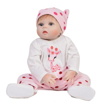 55cm new Baby Toy Reborn Dolls vinyl Silicone Doll Reborn with Cute giraffe clothes Gift For Children Birthday party gift Playma
