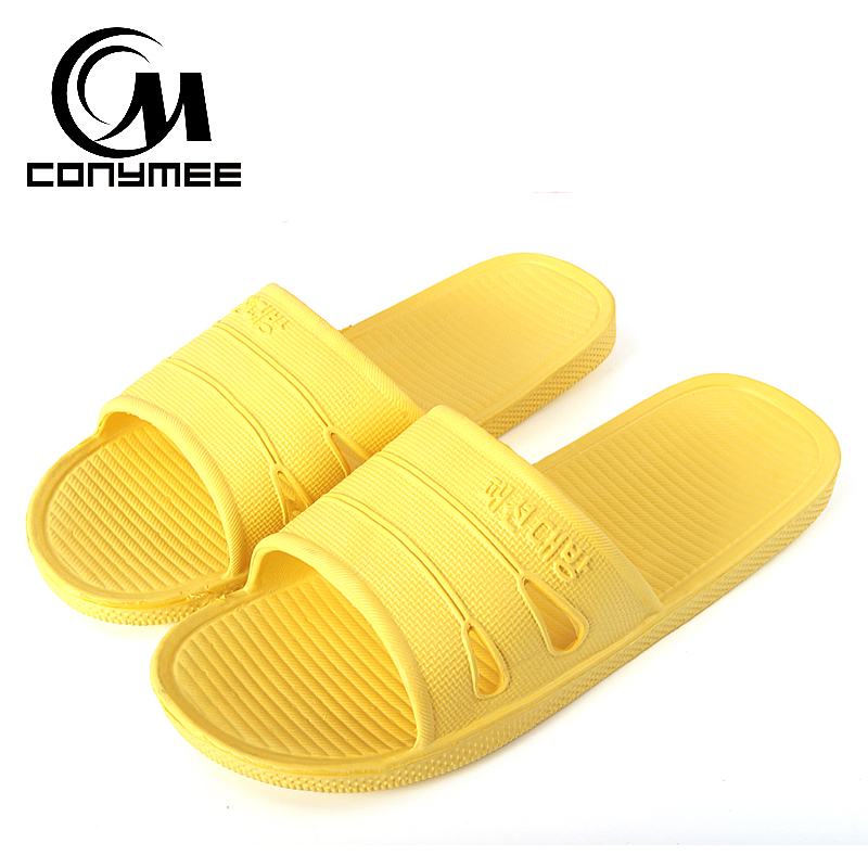 CONYMEE Summer Shoes Woman Indoor Home Bathroom Slippers Sandalias Men Women Beach Sandals Flip Flops Fashion Zapatos Hombre цена