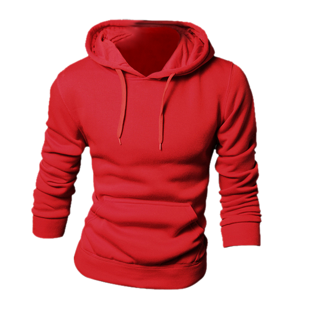 SYB 2016 NEW New spring/autumn Mens fashion Casual Hoddies Sweatshirts High Quality Men sportswear solid Fleece hoody red