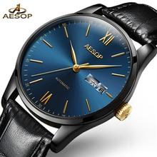 AESOP Ultra Thin Gold Watch Men Automatic Mechanical Men's W
