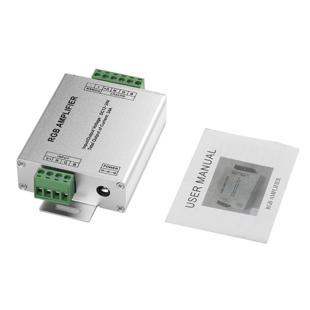Image 5 - Amplificador RGB RGBW, DC12 24V 24 A, circuito de salida de 4 canales, carcasa de aluminio, controlador de tira led, repetidor de señal de datosControladores RGB   -