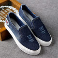 New 2017 Fashion Quality Denim Canvas Shoes Vulcanize Slip On Breathable Women Casual Shoes Spring Autumn High Platform D076