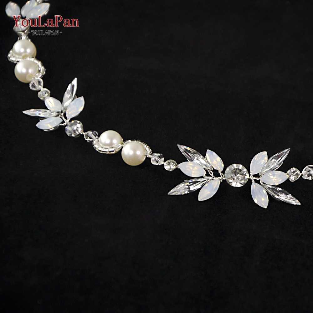YouLaPan luxe opale diamant mariée diadème strass mariage bandeau mariage cheveux bijoux mariée bandeau cheveux accessoire HP132