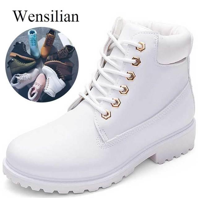 Дизайнерские зимние ботильоны для женщин, женские теплые ботинки martin на меху, женская обувь на шнуровке, Bota Feminina, botas mujer