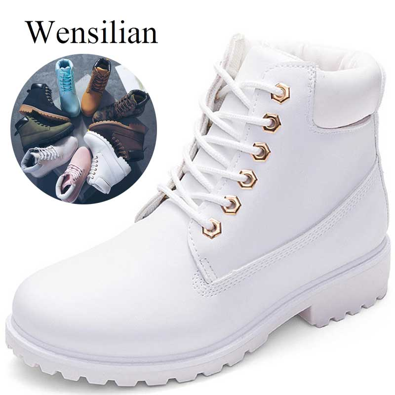 Designer Winter Ankle Snow Boots For Women Female Warm Fur White Boots Lace Up Bota Feminina Shoes For Women Botas Mujer-in Ankle Boots from Shoes