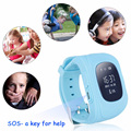 Smart Phone Watch Children Wristwatch Q50 GPS GSM Locator Tracker Anti-Lost Smartwatch Child Guard for iOS Android with Package