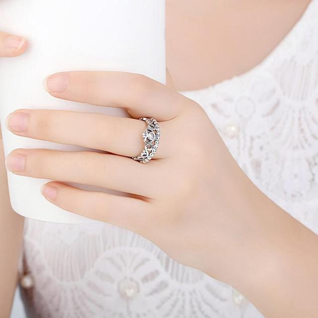 925 Sterling Silver Ring Crown Ring 5