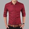 Spring 2017 men's casual shirt Slim long-sleeved shirt men designer shirt printing large size M~5XL