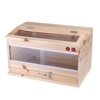 Wood Reptiles Terrariums Enclosure Heating Cage Lizard Frogs Snake Turtle Tank With Lock Breeding Box Reptiles Products Large