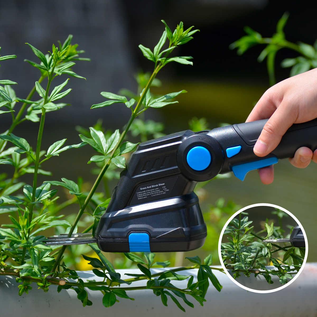 Prostormer électrique sans fil tondeuse domestique taille-haie 2 en 1 démontage 3.6V Rechargeable sarclage cisaille élagage tondeuse