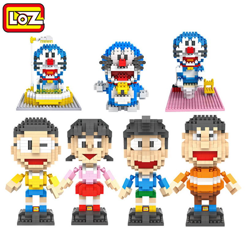 2016 NEW kids toys educational loz building blocks doraemon diamond blocks lot cartoon anime figure children gift toy bricks