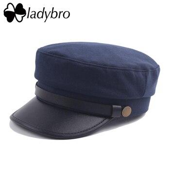 Ladybro Men Military Hat Winter Flat Cap...