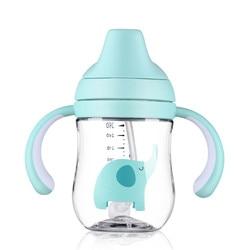 Neonato Alimentazione Del Bambino Tazza 260 ml Del Bambino Infantile Per Bambini di Formazione Tazza con Paglia Per Bambini Imparare Alimentazione Potabile Bottiglia con Maniglia