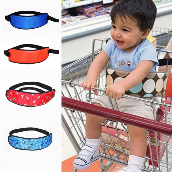 Safety Belt Supermarket Stroller Infant Kids Chair Seat Belt Children Cotton Belts for Baby Shopping Cart Wraps Strap FJ baby infant high chair seat cover mat waterproof feeding eating place mat