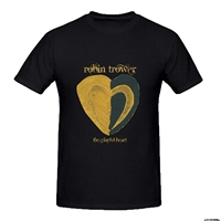Five Colors 100 Cotton Short Sleeve Tshirt Cotton T Shirts Robin Trower The Playful Heart T