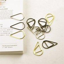 12 шт./упак. 6 видов цветов краткий стиль Waterdrop металлический зажим для бумаги Закладка для книги канцелярские принадлежности для школьных канцелярских товаров Эсколар