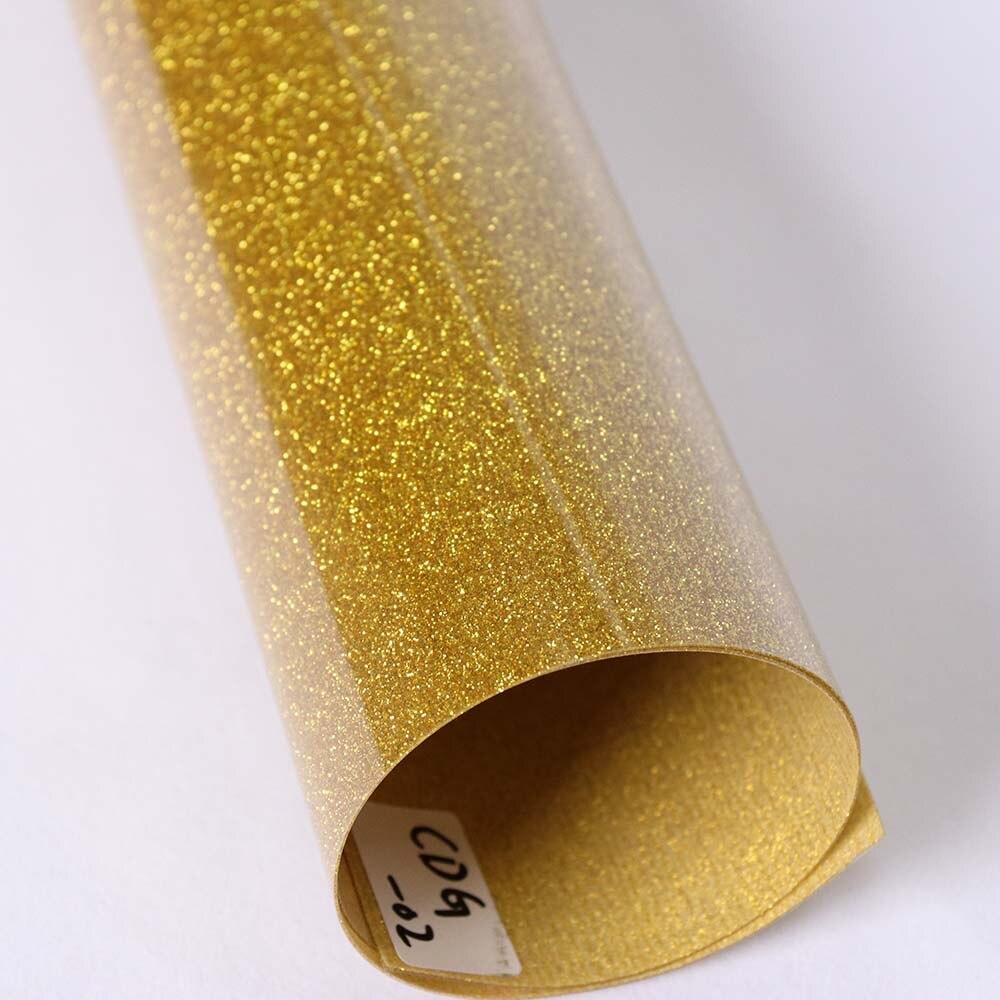 20 Quot X39 37 Quot 50x100cm Gold Glitter Heat Transfer Vinyl
