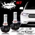 2 Unids 7G LUMILEDS H7 LED Headlight kit de Conversión Auto LLEVÓ La Bombilla Del Faro 80 W 8000LM 6500 k Para Reemplaza Halógena de coches y HID Bombillas
