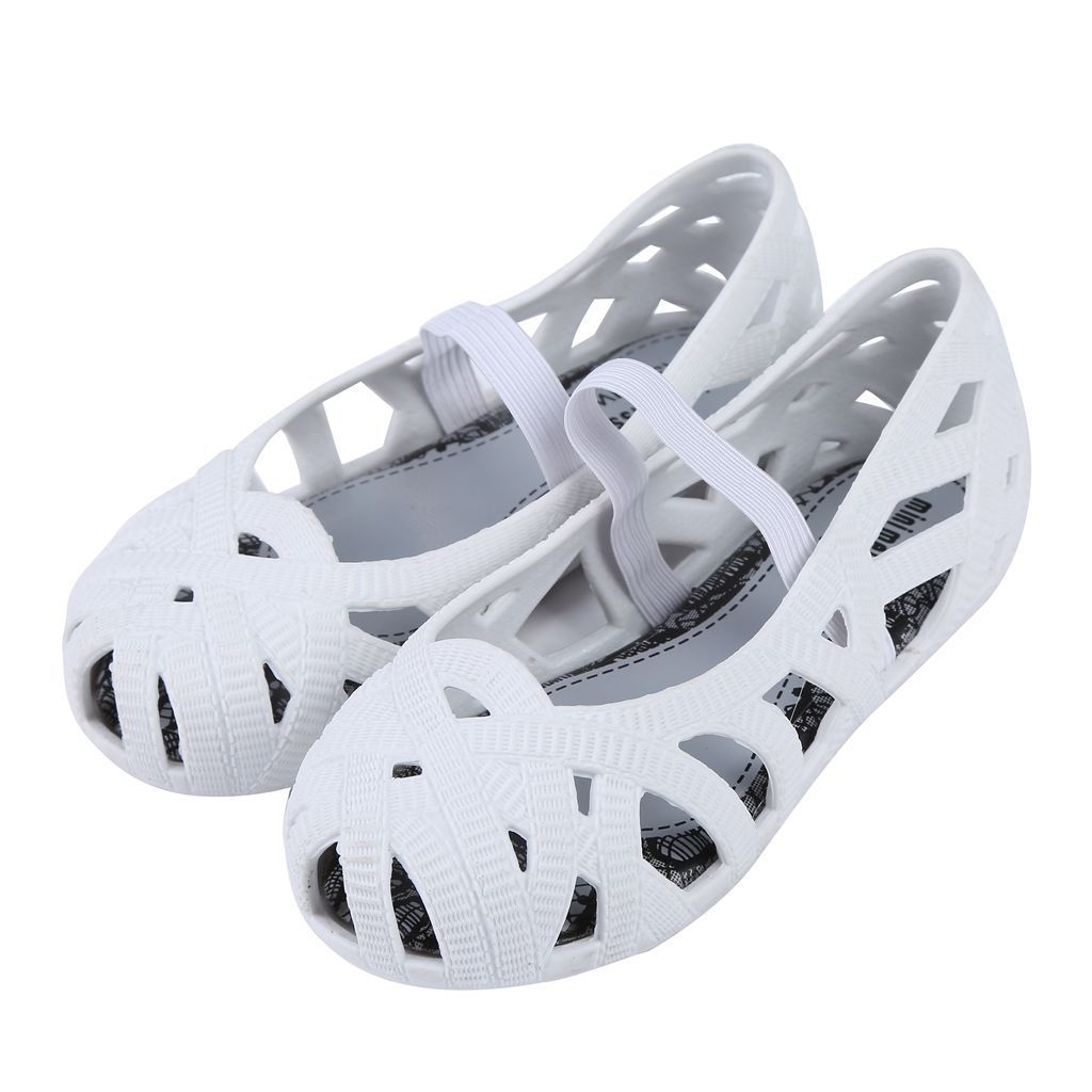 dd1f0ff9d2b05 Mini Melissa Children Fashion Kids Casual Hollow Striped Cute Princess  Sneaker Clogs Mules Birdnest Cute Girl Jelly Shoes Sandal-in Sandals from  Mother ...