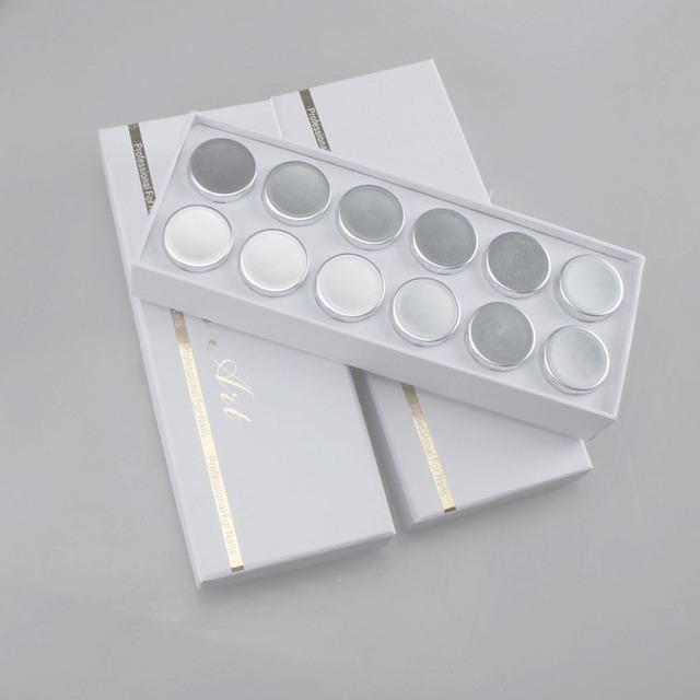 12 Colores de Láser Holográfico fino Brillo En Polvo para la decoración de uñas