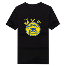 "Newest 2017 Kevin Durant ""KD MVP"" Men's Cotton Short Sleeve mvp T-shirts Tee Shirts Camisa 1025-4"