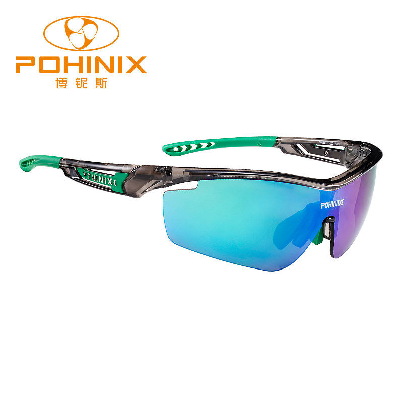 POHINIX Speed PX011-01 TR90 Anti-ultraviolet Outdoor Sports Bicycle Sunglasses Polarized Cycling Goggles MTB Riding Eyewear
