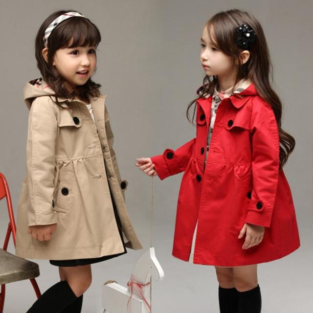 15fc08868 New Kids Trench Coat Girls Windbreaker Jacket For baby Girls Winter ...