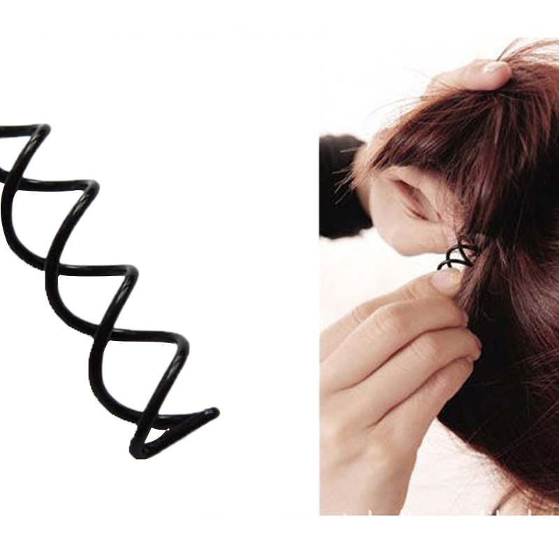 10Pcs/lot Black Braiders Spiral Spin Screw Pin Hair Clips Twist Barrette Hairpins Hairdressing Accessories For Girl Hair Clip