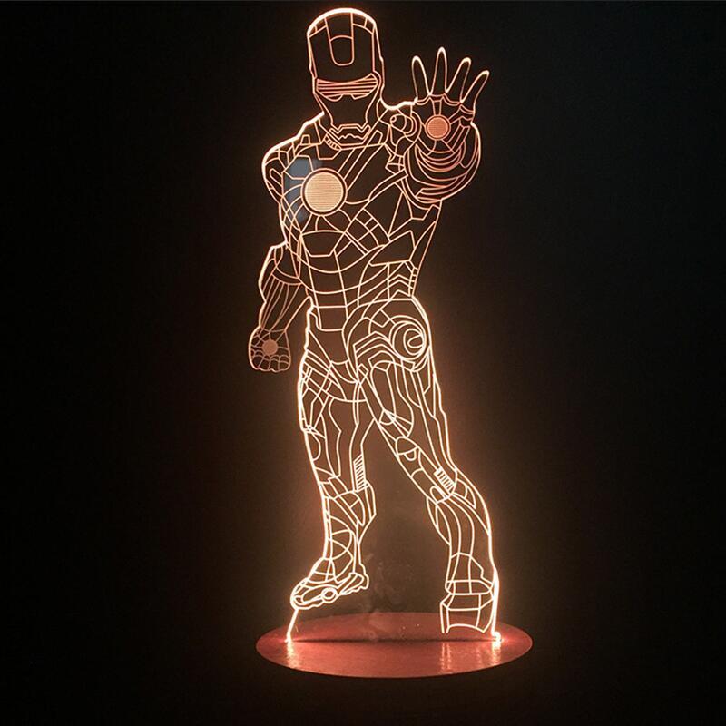 Luzes da Noite abajur parágrafo led 3d homem Features 2 : Amparas, Luminaria de Mesa , Lava Lamp , lamps, Luminarias, Luminaria l