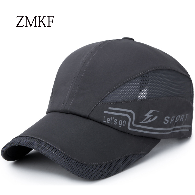 2018 ZMKF new fashion brand summer solid color blank baseball cap men's ladies washed denim hat dad hat quick-drying