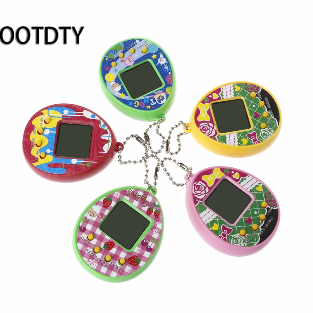 LCD Virtual Digital Pet Egg Handheld Electronic Game Machine Toy With Keychain the best gifts for children and friends