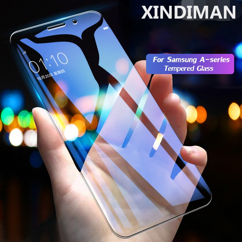 CAPAME-Protective-Glass-For-Samsung-Galaxy-A7-2018-A5-2017-A3-2016-A6-Plus-Screen-Protectors