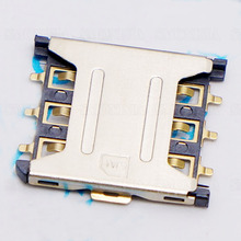 Nano-SIM Card Plug-in Cellular Cellphone Micro Card Slot 6P Connector