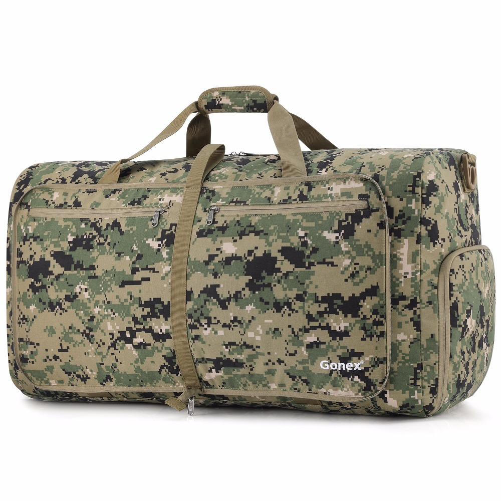 Gonex 80L Cordura Travel Duffle Bag Foldable Luggage Duffel Handy Shoulder Bag Tactical Military Style Business