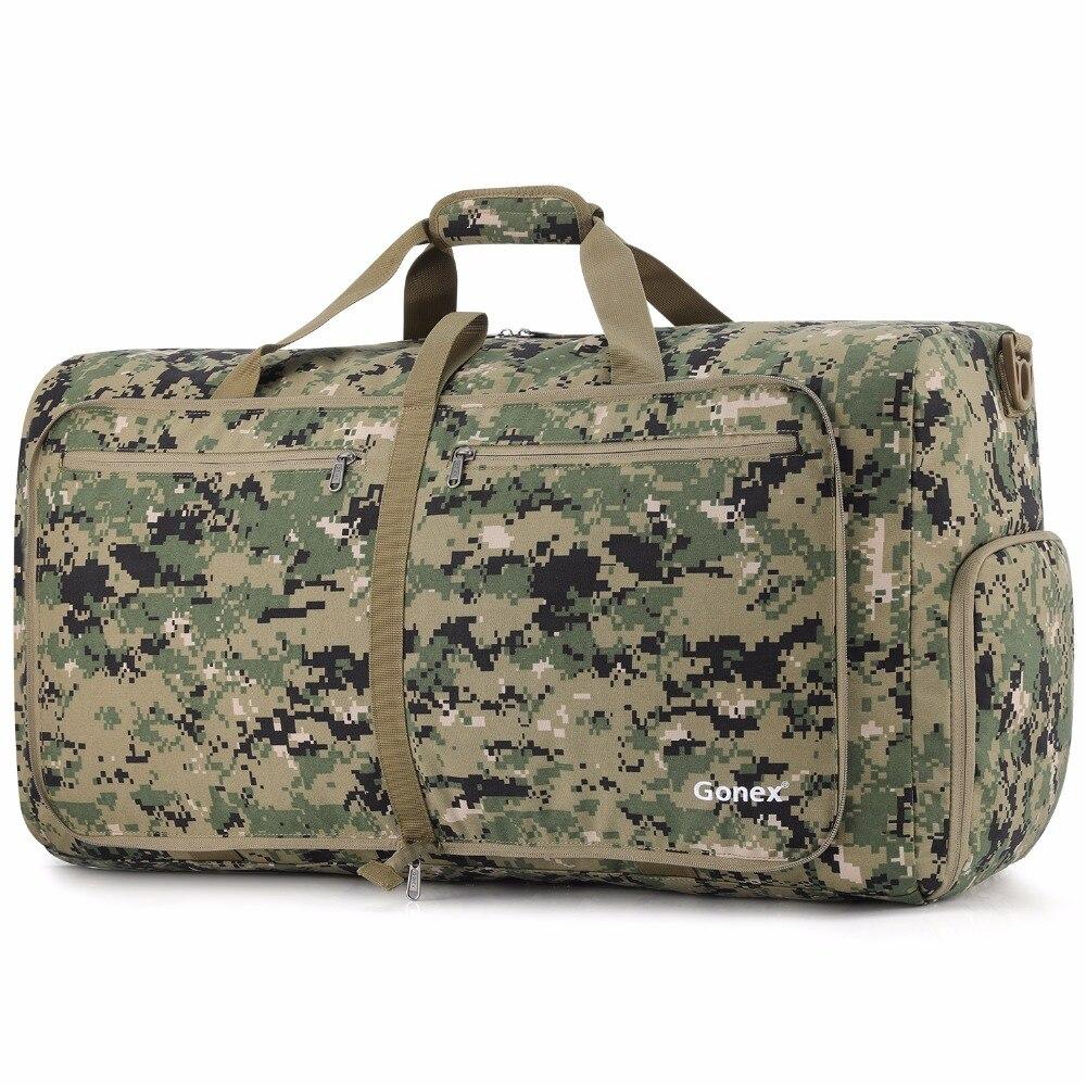 Gonex 80L Cordura voyage sac de voyage pliable bagage polochon pratique sac à bandoulière tactique Style militaire voyage d'affaires Gym Sports