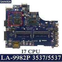 KEFU VBW01 LA 9982P Laptop motherboard for Dell Inspiron 3537 5537 Test original mainboard I7 4500U 2GB graphics card