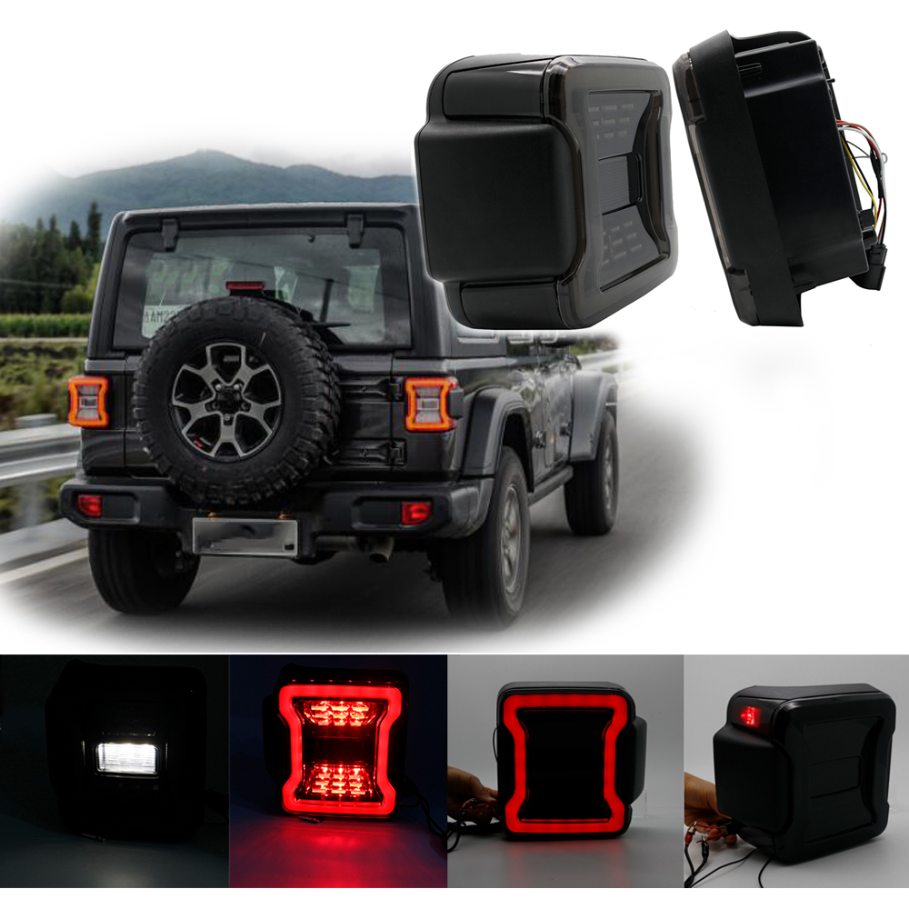 Jeep Wrangler Led Tail Lights >> Us 138 77 11 Off Aliexpress Com Buy For Jeep Wrangler Jl 2018 2019 For Jeep Wrangler Taillights Smoked Led Tail Lights With Usa Eu Version From