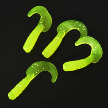 MNFT 50Pcs/packs Fishing Lures 3cm 3.5cm Worm Soft Lure Fishing Bait Fish One-tailed Soft Baits Cebus Maggots