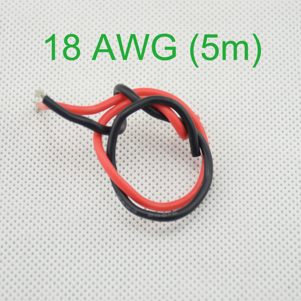 18 AWG (5m) Gauge Silicone Wire Flexible Stranded Copper Cables for ...