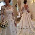 Frete grátis lace backless longo vestido de casamento vestido de noiva de coleção