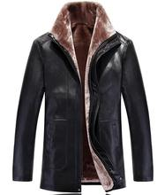 Winter Leather Jackets Men Fur Coats Male Casual Motorcycle Leather Jacket Thicken Outwear Overcoat For Man Large Size 3XL