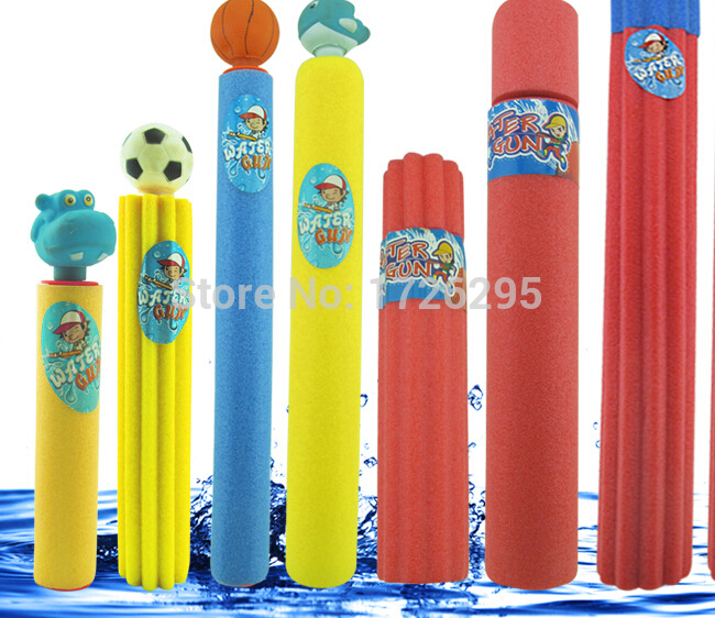 a lot = 20pcs 2 Size Kids Foam Water Pistol / Blaster Shooter New Super Cannon Soaker Toy kids children water guns water shooter