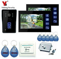 Touch Key 7 Inch Video Door Phone Doorbell Intercom Entry System With RFID Keyfobs Electronic Lock