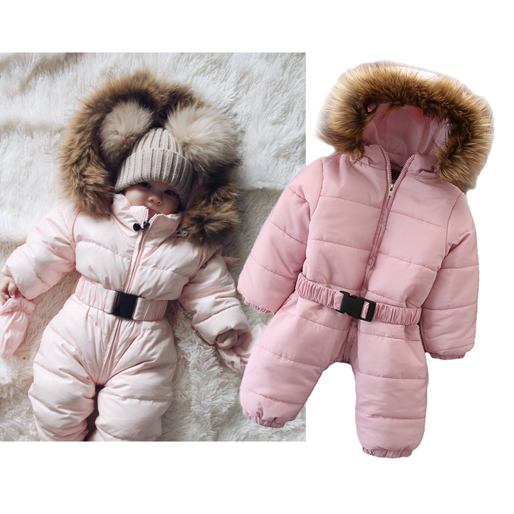 Winter Warm Baby Girl Clothes 2019 Fashion Style Toddler Girls Rompers Newborn Infant Jumpsuits Cute Hooded Long Sleeve Overalls