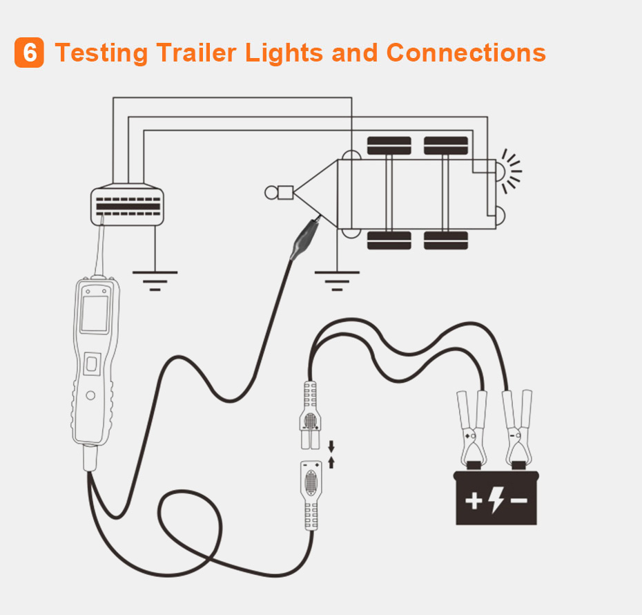 12v Power Probe Super Automotive Car Circuit Tester Kzyee Km10 Homemade Trailer Light Wiring Diagram Specifications