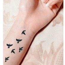 Small Birds Fly Design Waterproof Temporary Tattoo Sticker