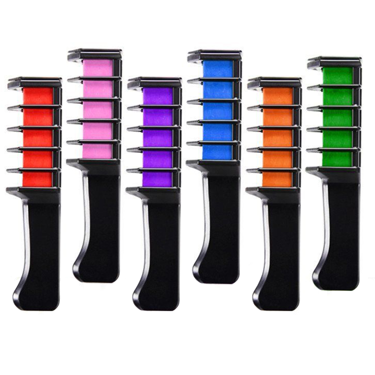 Hair-Chalk-Comb For Multicolor Styling-Tool Chalks Crayons Temporary-Hair Mini Pro 6pc/Set