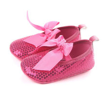 4db2ba19a7f7 Newborn Baby Girl Sequins Soft Sole Princess Shoes Toddler Crib Prewalker Boots  0-18M White